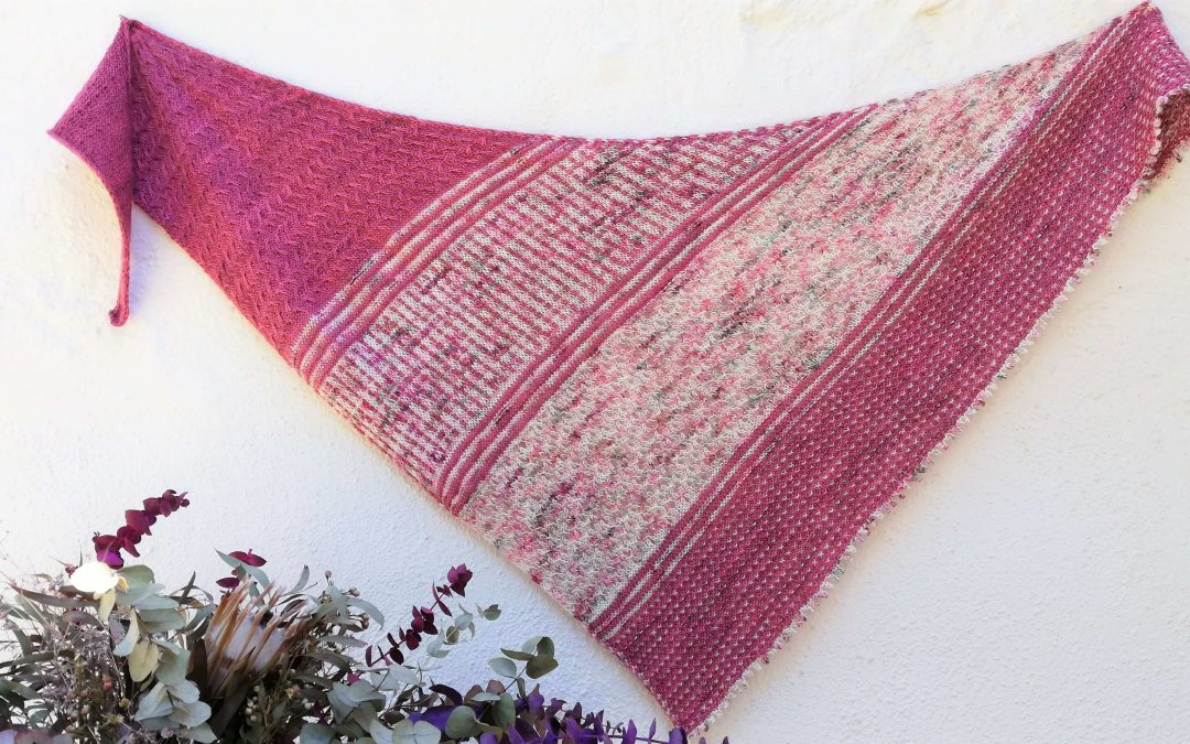 PICOT BIND OFF, SAINT GEORGES DAY AND A SHAWL AS PRETTY AS A ROSE